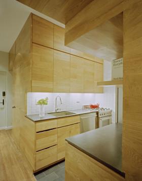 黄色雅致简约风格厨房橱柜效果图欣赏