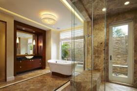 东南亚风格黄色卫生间装饰图