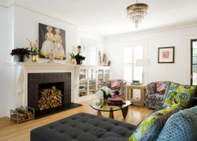 2016雅致时尚简约白色客厅设计图