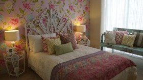 东南亚粉色个性公主房装修效果图片