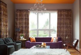 浪漫田园风格客厅装饰设计图片