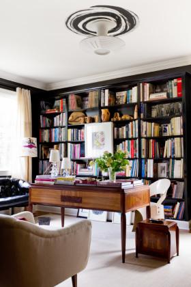 东南亚风格白色书房装修效果图片