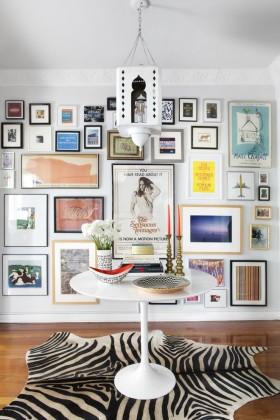 时尚简约风格照片墙装修美图欣赏