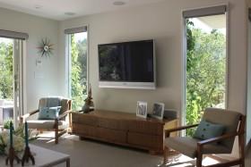米色北欧风格客厅电视背景墙装修赏析