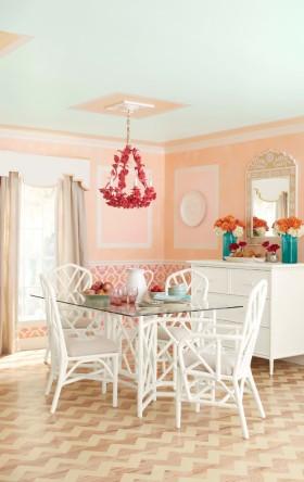 欧式风格浪漫粉色餐厅设计案例