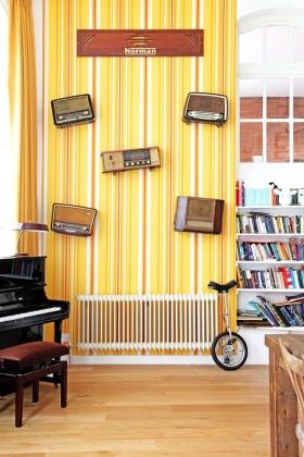 摩登个性美式风格橙色背景墙赏析