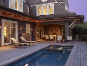 简约风格别墅户外泳池装饰案例
