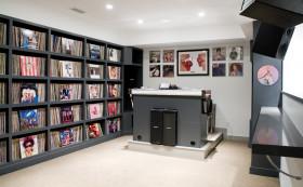 黑色简约书房设计欣赏
