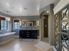 灰色现代风格卫生间浴室柜装潢设计