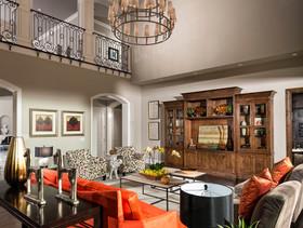 大气华丽雅致美式风格别墅客厅装饰案例