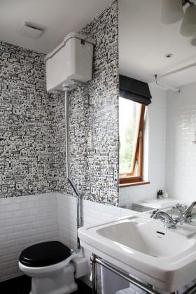 黑色简约风格卫生间装修美图欣赏