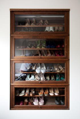 新古典雅致实用原木色鞋柜美图