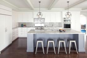 灰色摩登现代风格厨房装饰案例