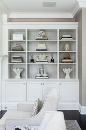 灰色欧式风格书房收纳柜图片