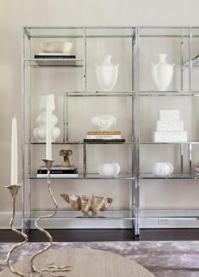 欧式米色收纳展示柜图片赏析