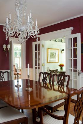 华丽精致创意美式风格红色餐厅装修案例
