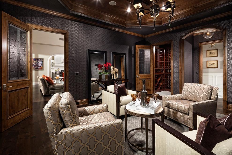 欧式复古原木典雅风格客厅装潢图片