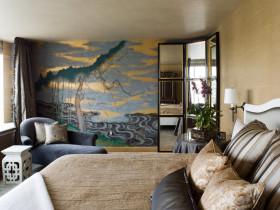 2016橙色东南亚风格卧室装修效果图片