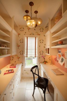 浪漫雅致时尚美式书房装修设计