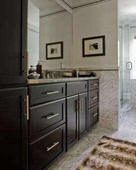 2016优雅大气美式风格浴室柜设计装修图