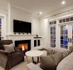 北欧风格清新白色客厅装修欣赏