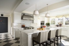 欧式白色厨房装潢案例