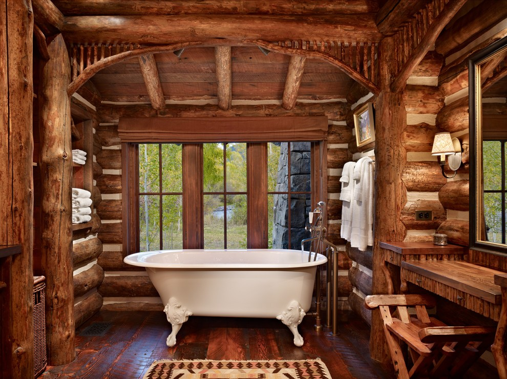 美式风格森系原木色卫生间图片欣赏