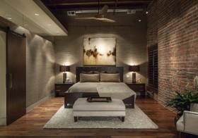 褐色中式风格卧室装修设计欣赏