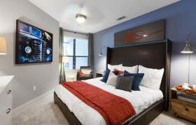 蓝色地中海风格卧室装修设计案例