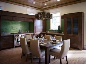 中式风格餐厅橱柜装潢设计