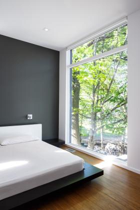 黑色简约风卧室装修设计图