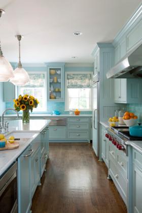 地中海风格厨房橱柜装修效果图片