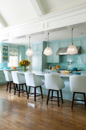 地中海风格蓝色厨房设计装潢