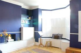 蓝色唯美简约风格书房效果图欣赏