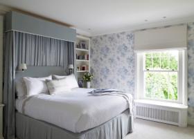 蓝色田园风格卧室装修设计案例