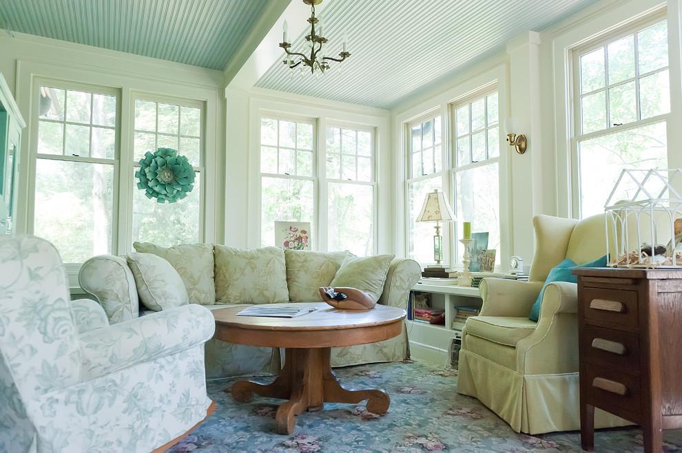 白色清爽型自然田园客厅装修效果图