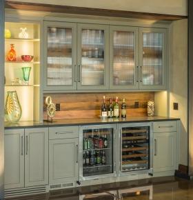 灰色质感简欧风格酒柜装修设计