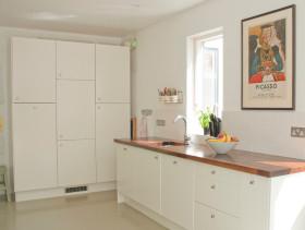 白色清新简约风厨房设计图片