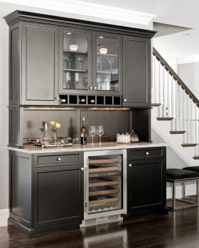 黑色精美雅致现代风格厨房装修效果图片
