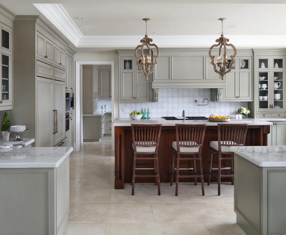 灰色质感欧式风格厨房效果图设计