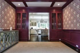 红色大气中式精美时尚收纳室装饰设计图片