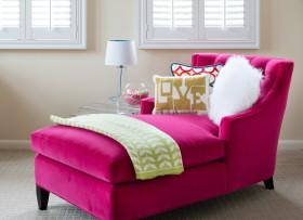 简约可爱粉色休闲沙发设计赏析