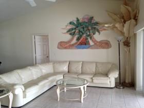 地中海风格白色客厅装修效果图