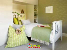 绿色舒适宜家风格儿童房装潢设计
