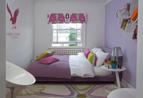 简约紫色儿童房窗户设计装潢