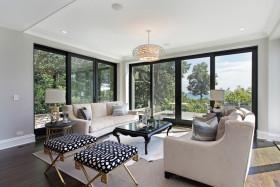 大气灰色简欧风格客厅装修效果图片