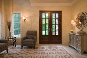 黄色复古欧式风格玄关装饰美图