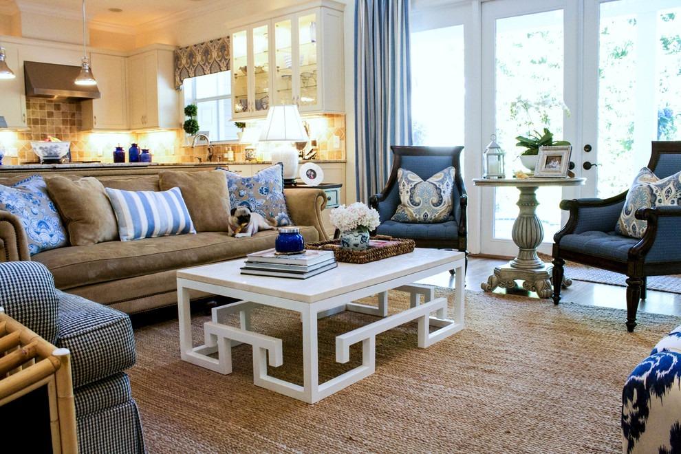 地中海风格蓝色客厅装饰案例