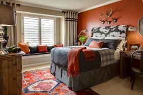 美式风格个性橙色儿童房装修效果图片