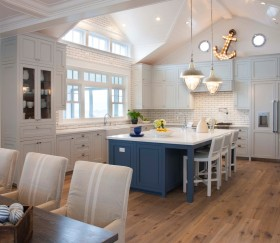 清新地中海风格厨房效果图设计